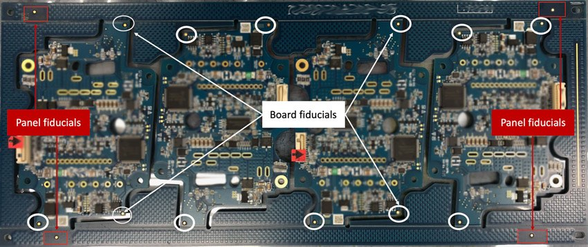 PCB fiducials for PCB assembly