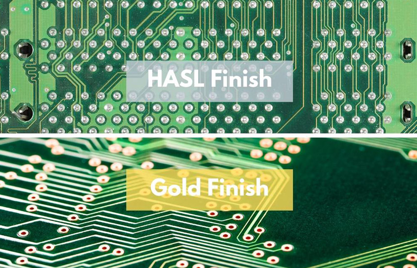 PCB surface finish - HASL and Gold