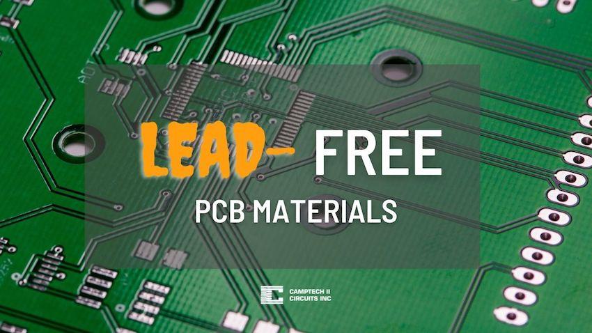 Lead free PCB material comparison table