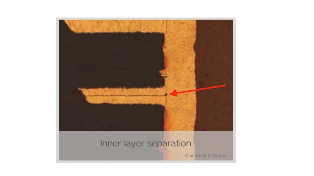 PCB manufacturing inner layer seperations