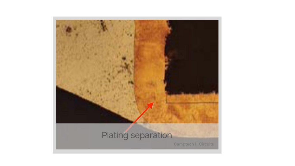PCB manufacturing plating layer separation